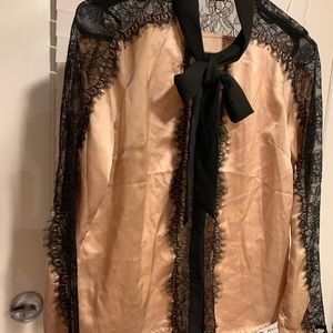 Lace Champagne Top, Size M